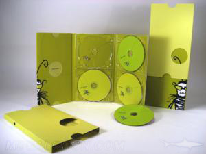 unique cd packaging die cut slipcase set