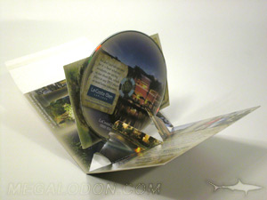 unique cd pop up pak mailer packaging business reply card